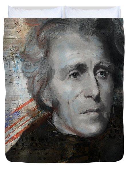 Andrew Jackson Duvet Cover by Corporate Art Task Force