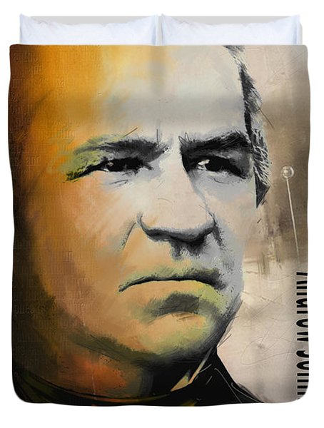 Andrew Johnson Duvet Cover by Corporate Art Task Force