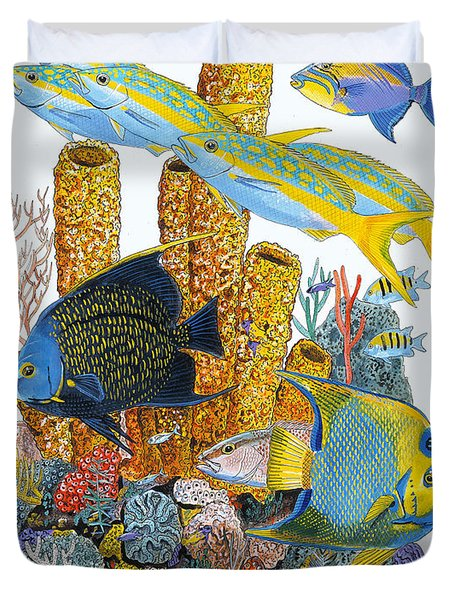 Angel Fish Reef Duvet Cover by Carey Chen
