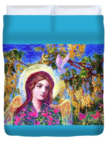 Angel Love Duvet Cover by Jane Small