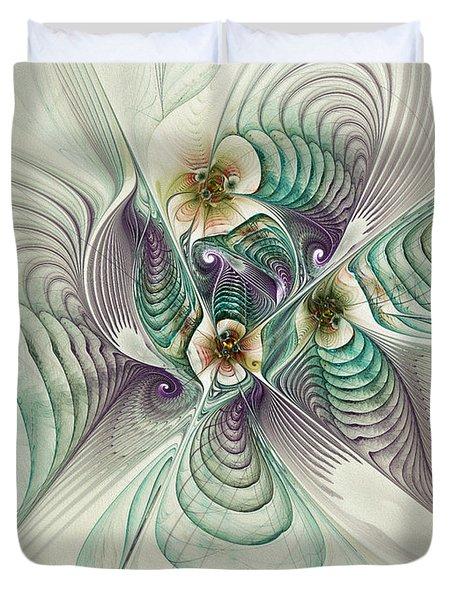 Angelic Entities Duvet Cover by Deborah Benoit