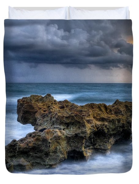 Angry Duvet Cover by Debra and Dave Vanderlaan