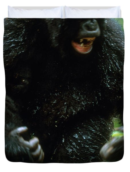 Angry Mountain Gorilla Duvet Cover by Art Wolfe