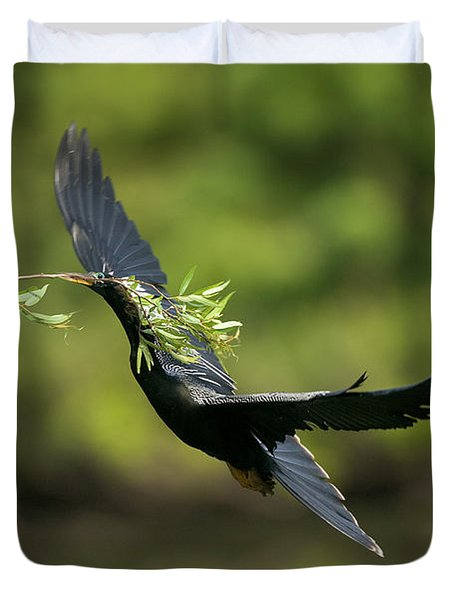 Anhinga Duvet Cover by Anthony Mercieca