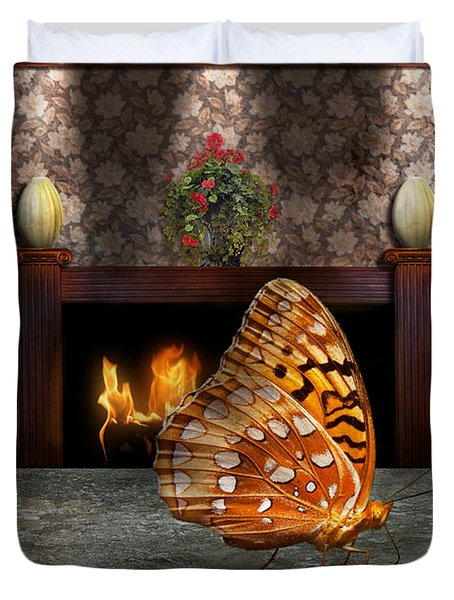 Animal - The Butterfly Duvet Cover by Mike Savad
