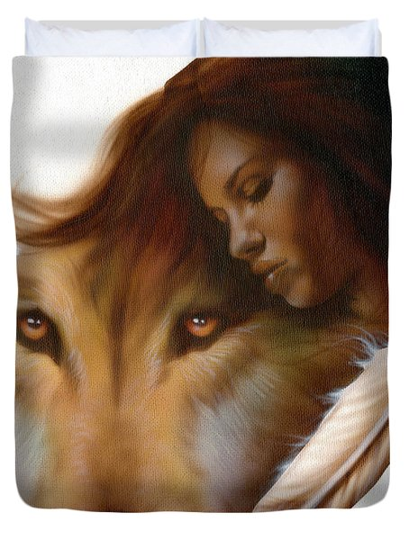 Animism  Duvet Cover by Luis  Navarro