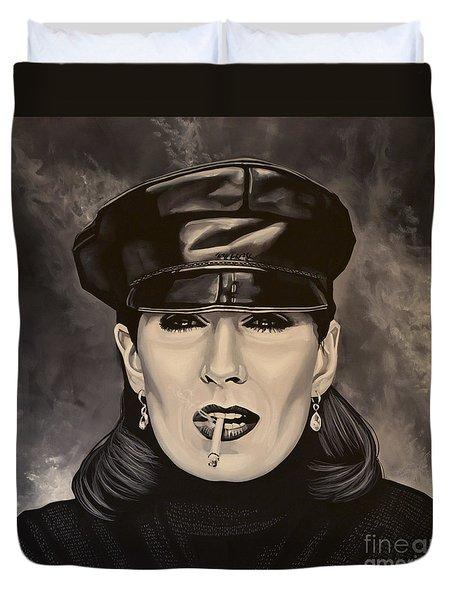 Anjelica Huston Duvet Cover by Paul Meijering