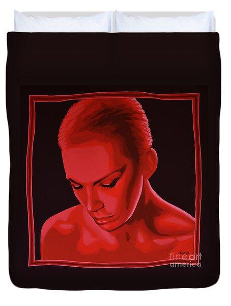 Annie Lennox Duvet Cover by Paul Meijering