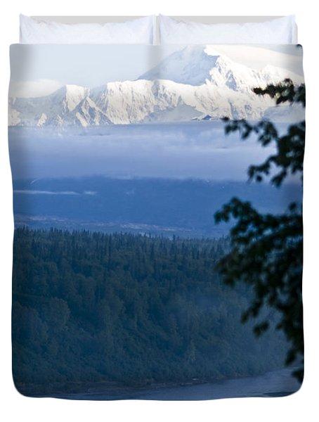 Another Denali View  Duvet Cover by Tara Lynn
