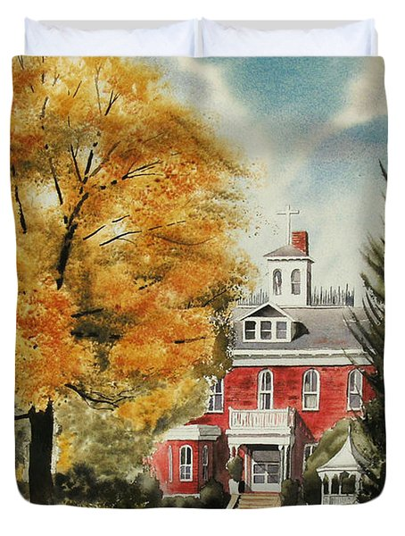 Antebellum Autumn Ironton Missouri Duvet Cover by Kip DeVore