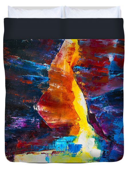 Antelope Canyon Light Duvet Cover by Elise Palmigiani