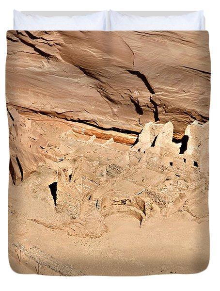 Antelope House Ruins Blending In Duvet Cover by Christine Till