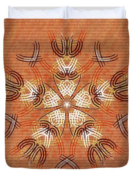 Anthropomorphic Mandala Duvet Cover by Hakon Soreide
