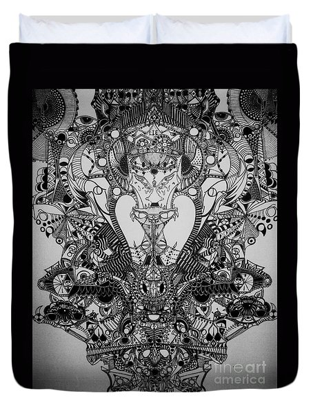 Antichrist Duvet Cover by Michael Kulick