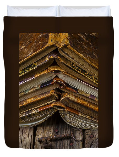 Antique Books Duvet Cover by Garry Gay