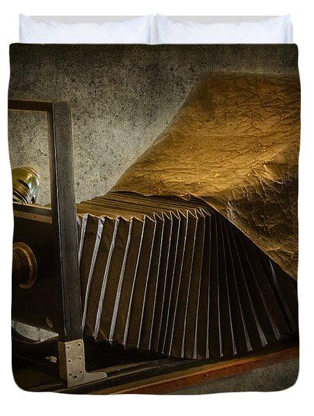 Antique Camera Duvet Cover by Susan Candelario