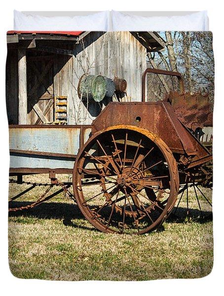 Antique Hay Bailer 1 Duvet Cover by Douglas Barnett