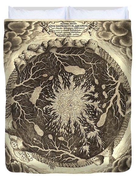 Antique Mystical Map Duvet Cover by Gary Grayson