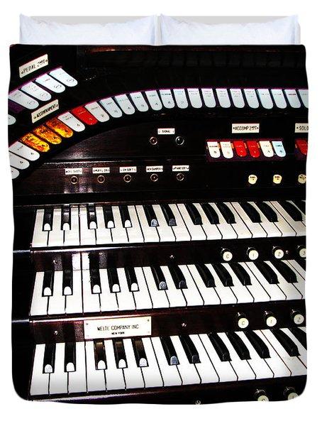 Antique Organ Duvet Cover by Marcia Socolik