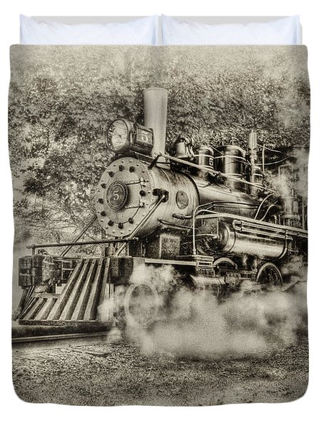 Antique Train Duvet Cover by Bill  Wakeley