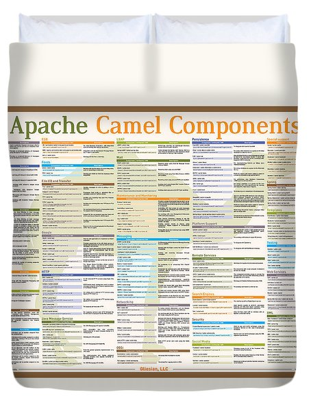 Apache Camel Components Poster Duvet Cover by Gliesian LLC
