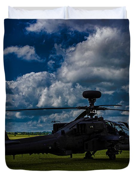 Apache Gun Ship Duvet Cover by Martin Newman