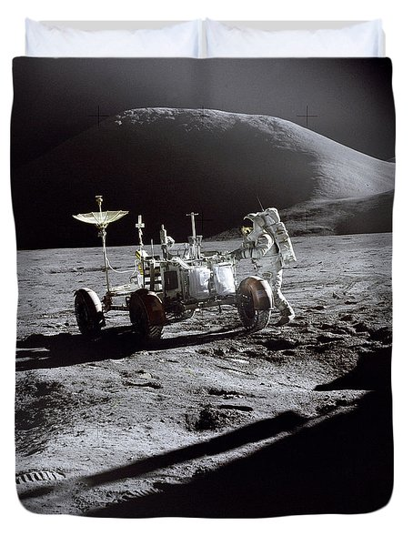 Apollo 15 Lunar Rover Duvet Cover by Commander David Scott