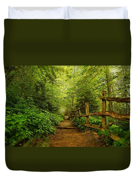 Appalachian Trail At Newfound Gap Duvet Cover by Stephen Stookey