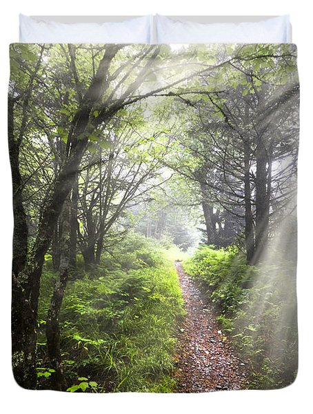 Appalachian Trail Duvet Cover by Debra and Dave Vanderlaan