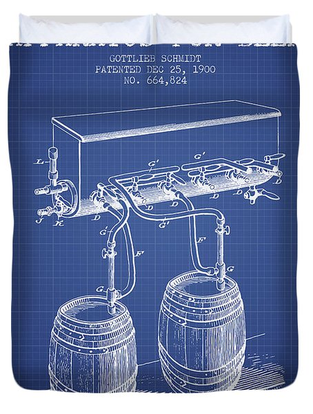 Apparatus For Beer Patent From 1900 - Blueprint Duvet Cover by Aged Pixel