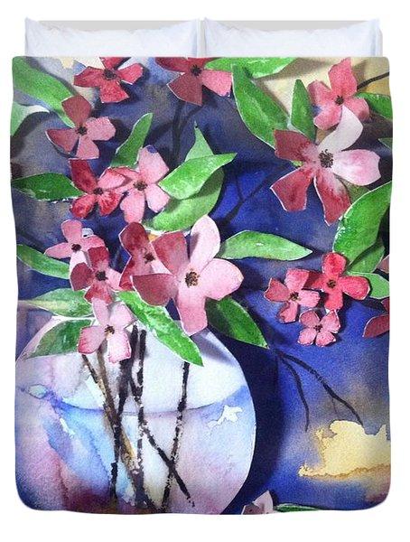 Apple Blossoms Duvet Cover by Sherry Harradence
