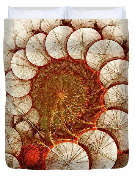Apple Cinnamon Duvet Cover by Anastasiya Malakhova