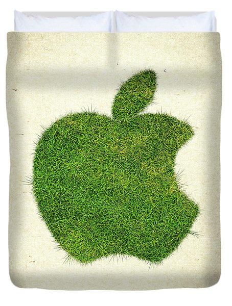 Apple Grass Logo Duvet Cover by Aged Pixel