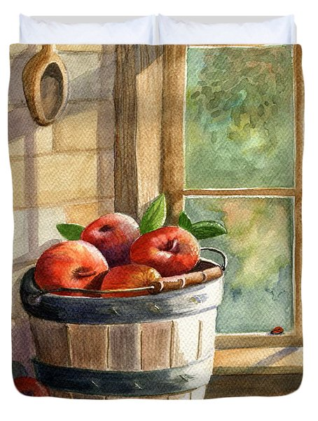 Apple Harvest Duvet Cover by Marilyn Smith