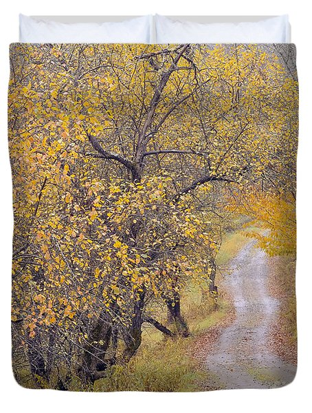 Apple Orchard Road Duvet Cover by Alan L Graham