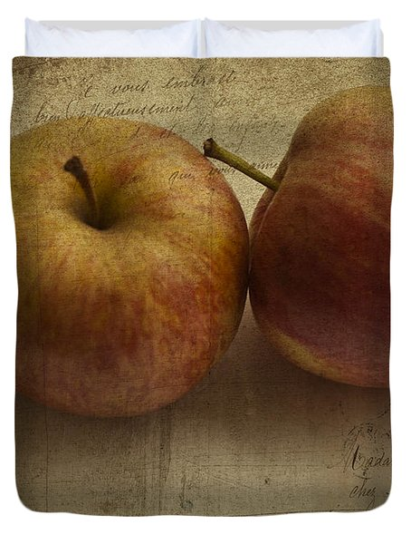 Apples Duvet Cover by Nomad Art And  Design