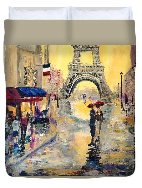 April In Paris Duvet Cover by Alan Lakin