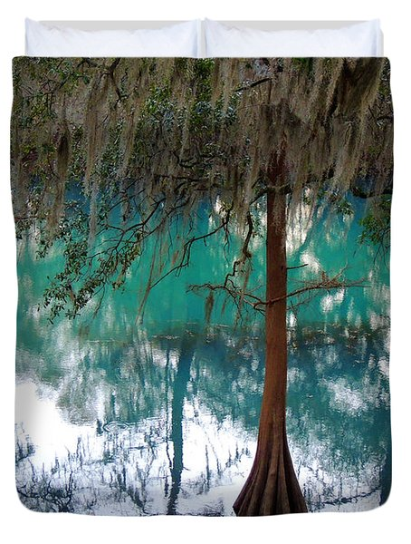 Aqua Beauty Duvet Cover by Kim Pate