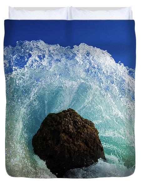 Aqua Dome Duvet Cover by Sean Davey