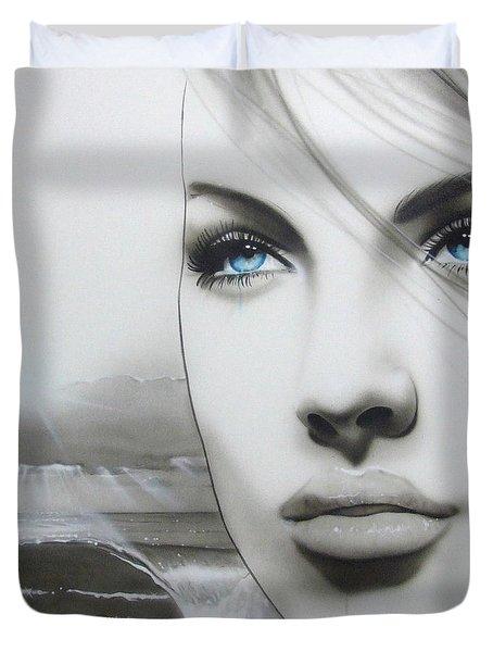 'Aqua Marine' Duvet Cover by Christian Chapman Art