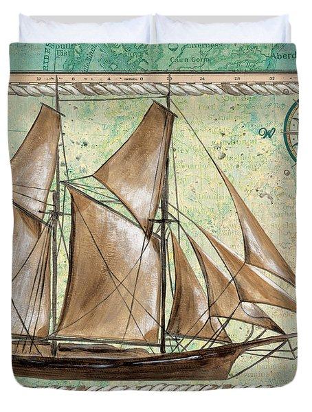 Aqua Maritime 2 Duvet Cover by Debbie DeWitt