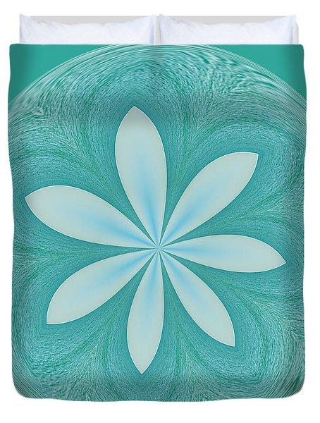 Aqua Orb Duvet Cover by Kim Hojnacki