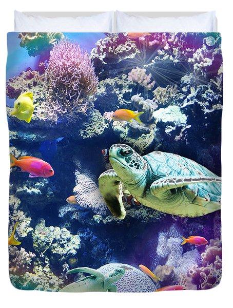 Aquarium Duvet Cover by Alixandra Mullins