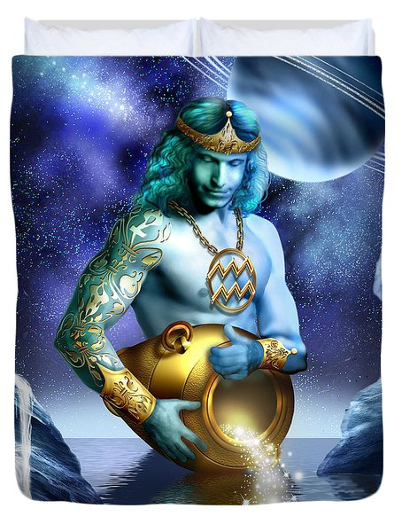 Aquarius Duvet Cover by Ciro Marchetti
