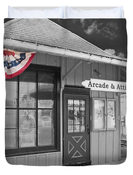 Arcade And Attica Depot Duvet Cover by Guy Whiteley