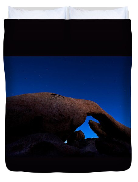 Arch Rock Starry Night Duvet Cover by Stephen Stookey