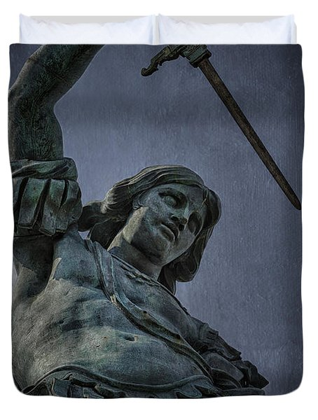 Archangel Michael Duvet Cover by Erik Brede