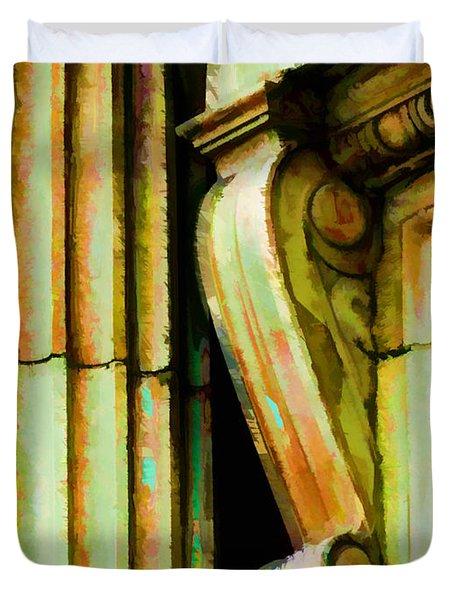 Archatectural Elements  Digital Paint Duvet Cover by Debbie Portwood