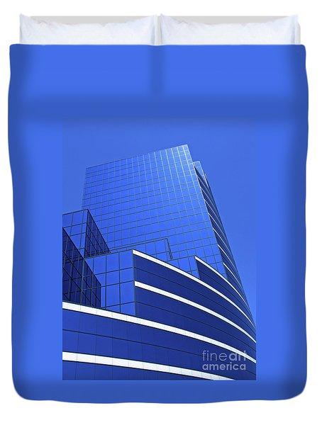 Architectural Blues Duvet Cover by Ann Horn