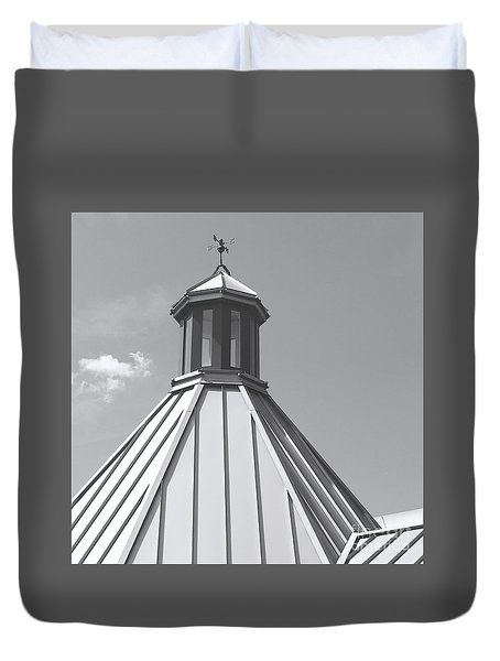 Architectural Gray Duvet Cover by Ann Horn
